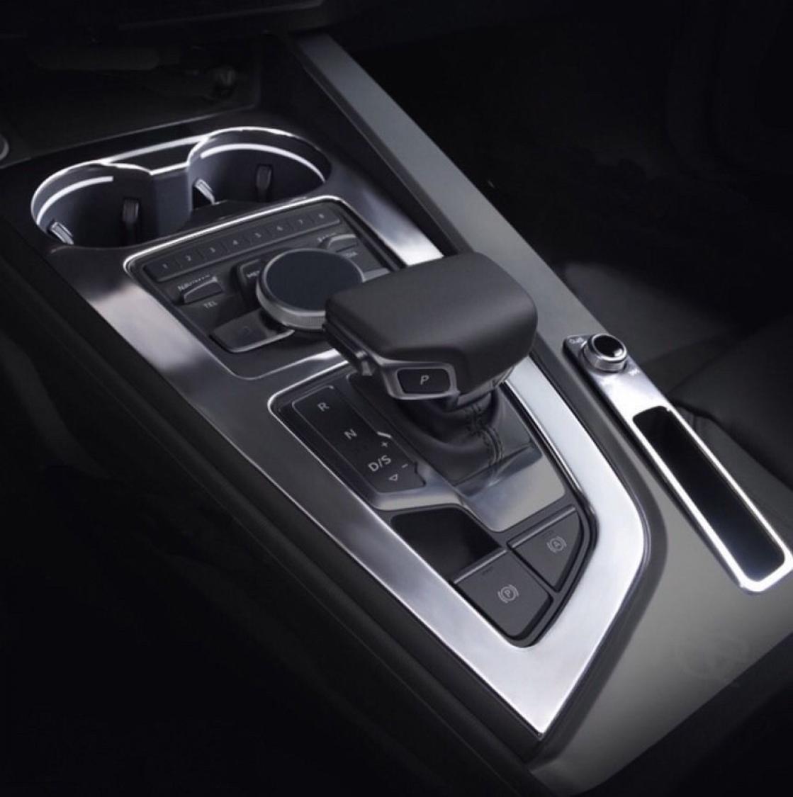 Mittelkonsole Edelstahl Dekor Interieur Blende Passend Für Audi A4 ...