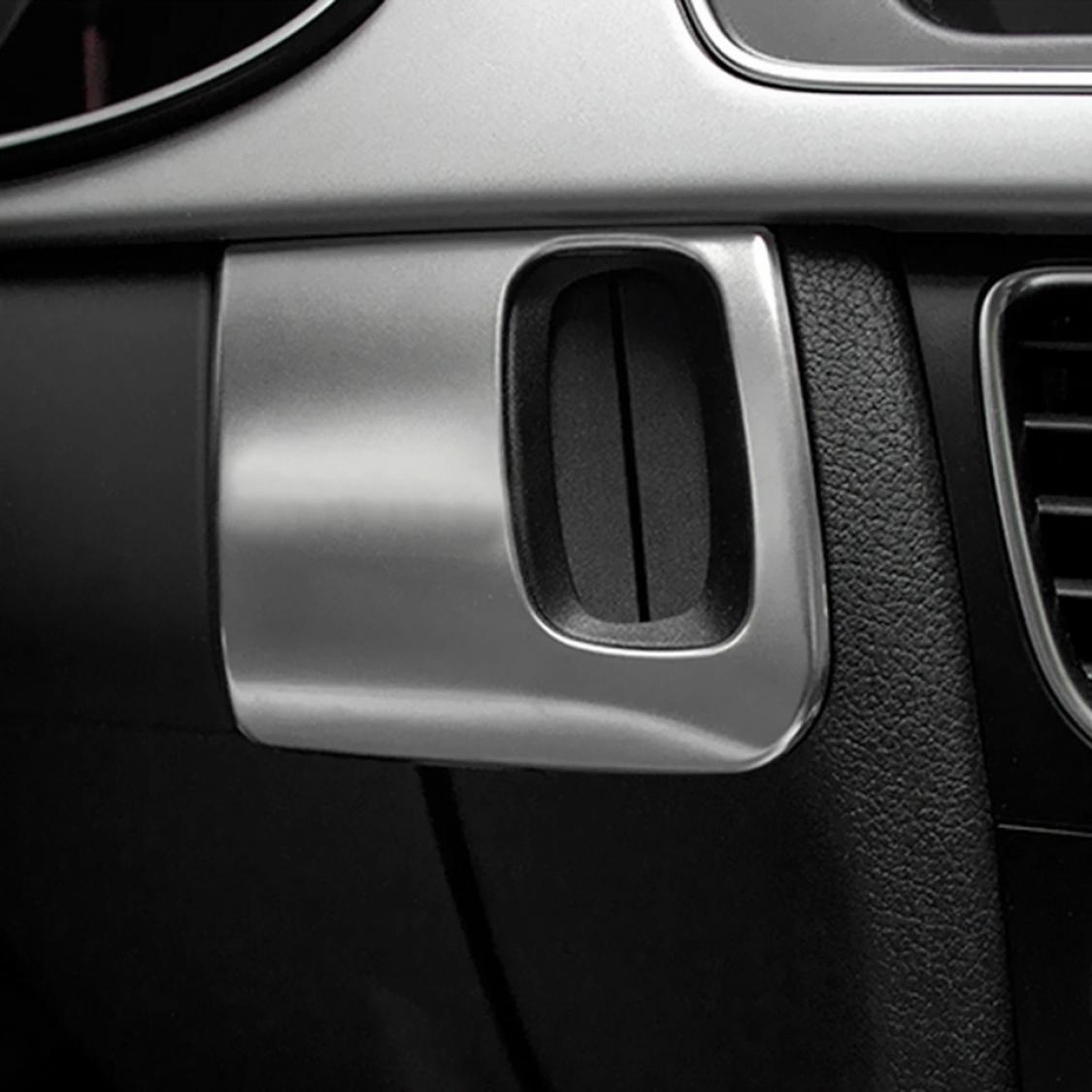 Mittelkonsole Schlüsselrahmen Edelstahl Matt Look Passend Für Audi ...